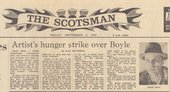 Fig.15 Alan Hutchison, 'Artist's Hunger Strike over Boyle', Scotsman, 5 September 1980