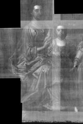Fig.17 X-radiograph detail of the woman and child on the left