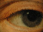 Fig.19 Detail of the sitter's right eye, showing the hatching technique