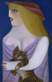 Fig.19 Richard Lindner, Homage to a Cat 1952
