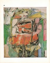 Scanned catalogue cover with slightly yellowed edges, showing a painting by Willem de Kooning featuring an abstracted figure of a woman
