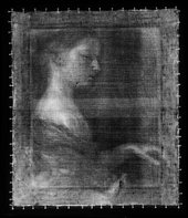 Fig.2 X-radiograph of Portrait of a Young Girl