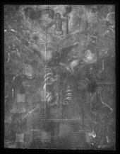 Fig.2 X-radiograph of An Allegory of Man 1596 or after
