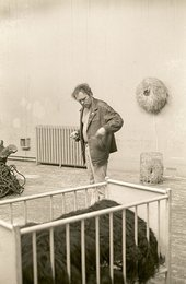 Fig.21 Günter Weseler preparing his installation for Strategy: Get Arts at the Edinburgh College of Art, August 1970