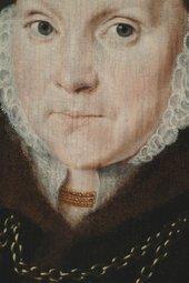 Fig.2 Detail of the face of Portrait of Elizabeth Roydon, Lady Golding 1563