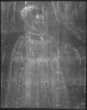 Fig.2 X-radiograph of Portrait of a Woman in Red 1620