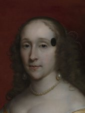 Fig.2 Detail of the face of Portrait of an Unknown Lady 1659