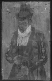 Fig.2 X-radiograph of Portrait of a Lady 1545