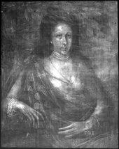 Fig.2 X-radiograph of Lady Elizabeth Pope c.1615