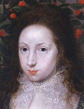Fig.2 Detail of the face of Lady Anne Pope c.1615