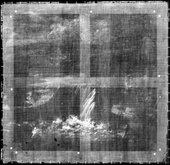 Fig.2 X-radiograph of Italianate Landscape with Town and Waterfall