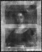 Fig.2 X-radiograph of Portrait of an Unknown Lady