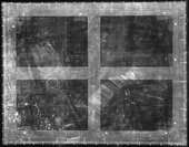 Fig.2 X-radiograph of Still Life with a Volume of Wither's 'Emblemes'