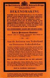 Fig.2 Bekendmaking, flyer produced by the Nederlandse Informele Groep, 1960