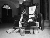 Fig.2 Joseph Beuys, Terremoto 1981, installed in the Palazzo Braschi, Rome, 1981