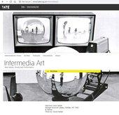Fig.3 The homepage of the 'Intermedia Art' website, www2.tate.org.uk/intermediaart, accessed 1 October 2019