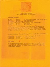 Fig.2 Flyer for the workshop and poetry reading schedule at the Poetry Project, St Mark's Church in-the-Bowery, New York, 1967