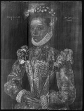 Fig.2 X-radiograph of A Young Lady Aged 21, Possibly Helena Snakenborg, Later Marchioness of Northampton 1569