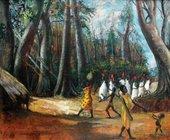 Ben Enwonwu, Ututu: Morning Meeting of Chiefs at Old Asaba c.1970
