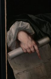 Fig.3 Detail of the sitter's right hand