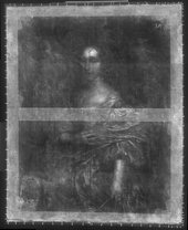 Fig.3 X-radiograph of Portrait of an Unknown Lady 1659