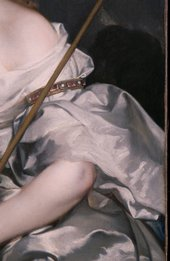 Fig.3 Detail of the sitter's left arm and drapery