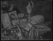 Fig.3 Infrared reflectograph of Still Life with a Volume of Wither's 'Emblemes' 1696