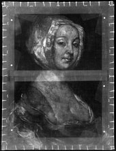 Fig.3 X-radiograph of Portrait of the Artist's Second Wife