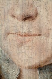 Fig.3 Detail of the sitter's nose and mouth