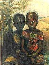 Fig.3  Ben Enwonwu, Chiekwe and Caro 1971
