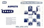 Fig.3 Exhibition announcement for New Aspects of Space, Martha Jackson Gallery, New York, 1957