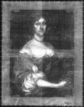 Fig.3 X-radiograph of Portrait of a Lady