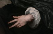 Fig.4 Detail of the sitter's left hand