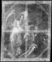 Fig.4 X-radiograph of Elijah and the Angel 1672