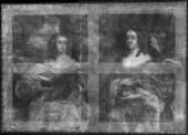 Fig.4 X-radiograph of Two Ladies of the Lake Family c.1660