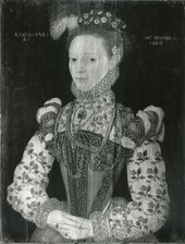 Fig.4 A Young Lady Aged 21, Possibly Helena Snakenborg, Later Marchioness of Northampton 1569, viewed in raking light from the left