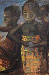 Fig.4 Ben Enwonwu, Three Biafran Children 1966