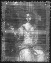 Fig.5 X-radiograph of Elizabeth, Countess of Kildare c.1679