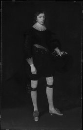Fig.5 Infrared reflectograph of Portrait of James Hamilton, Earl of Arran, Later 3rd Marquis and 1st Duke of Hamilton, Aged 17