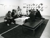 Fig.6 The lounge environment in Audio, Tape-Slide, Drawings and Performance at Tate, 23 August – 8 September 1982