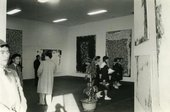 Fig.5 Installation view of the Sam Francis exhibition at the Tōyoko Department Store, Shibuya, Tokyo, October 1957