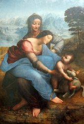Fig.5 Leonardo Da Vinci, The Virgin and Child with St Anne c.1503