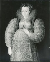 Fig.6 Infrared reflectogram of Portrait of an Unknown Lady c.1595