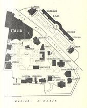 Fig.6 Map of the 1958 Venice Biennale