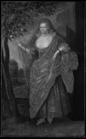 Fig.6 Infrared reflectogram of Portrait of a Lady, Called Elizabeth, Lady Tanfield 1615