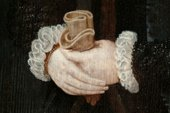 Fig.6 Detail of the sitter's hands and costume