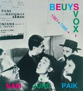 Cover of the catalogue for Nam June Paik's <em>Beuys Vox 1961–1986</em>, shown at Documenta 8 in 1987.