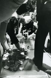 Fig.7 Documentation of Paul Neagu's Cake-man Event at the Sigi Krauss Gallery, London, 10 May 1971