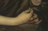 Fig.6 Detail of the sitter's right hand and the sash