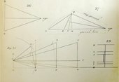 A page featuring four diagrams of lines positioned at different angles, labelled with numbers and letters.